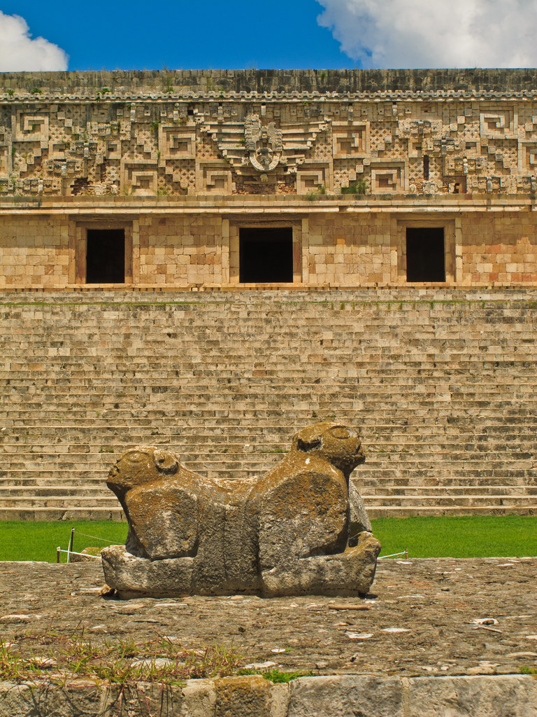 The Jaguar Throne in front of the Governor's Palace, Uxmal