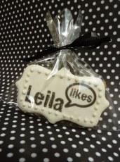 """""""Leila Likes"""" custom cookies"""