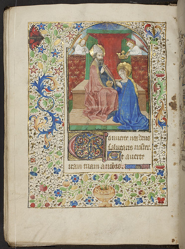 Book of Hours, f.80v, (184 x 133 mm), 15th century, Alexander Turnbull Library, MSR-02. by National Library NZ on The Commons