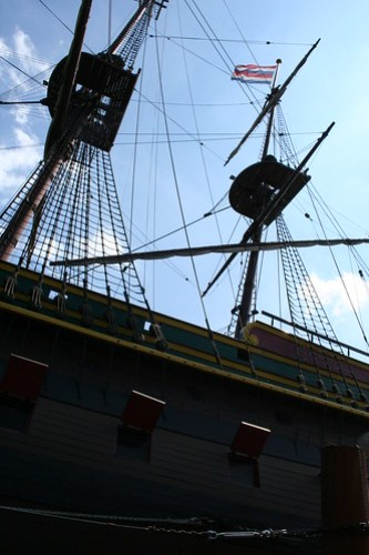 2010.07.14 Amsterdam 04 Blue Boat City Canal Cruise 124 Replica van de Amsterdam