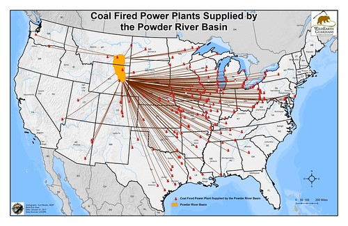 Coal-fired Power Plants Supplied by the Powder River Basin