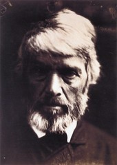 """""""Thomas Carlyle like a rough block of Michael Angelo's sculpture,"""" 1867, by Julia Margaret Cameron"""
