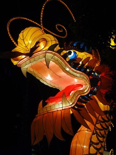 Chinese Dragon Lantern - Clarke Quay, Singapore