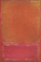 Orange and Pink on Red, 1953, by Mark Rothko