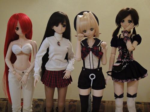 Yoko, Yuki, Akira and Moe