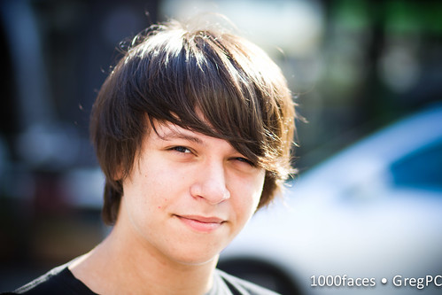 Face - young guy with shaggy hair