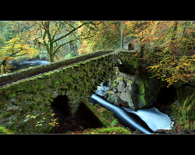 Hermitage Bridge Downriver por Angus Clyne