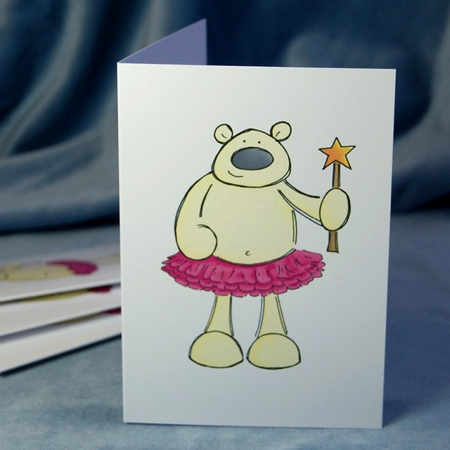 fairy polar bear - christmas card pack