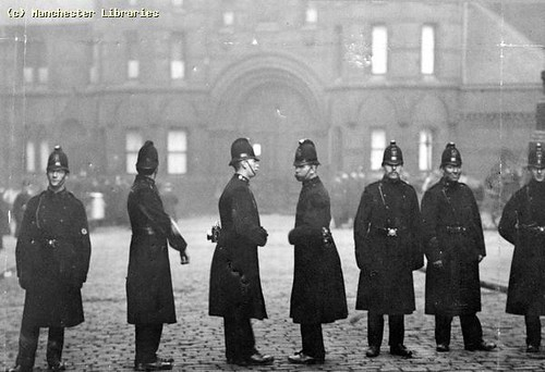 Police Outside Strangeways Prison, 1900