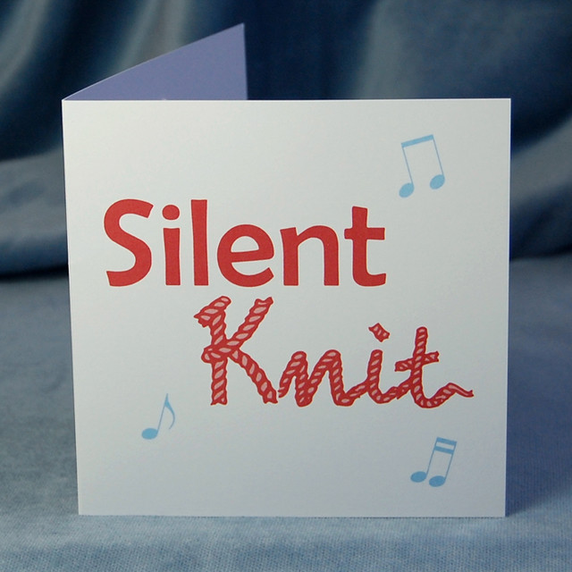 silent knit - pop up card (front)