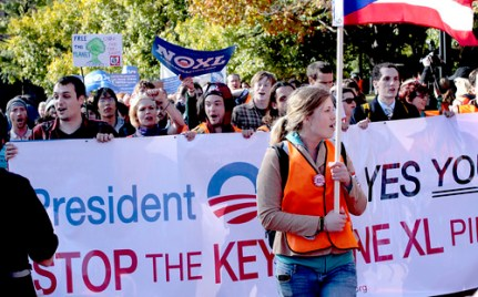 Keystone XL Pipeline Protest at White House