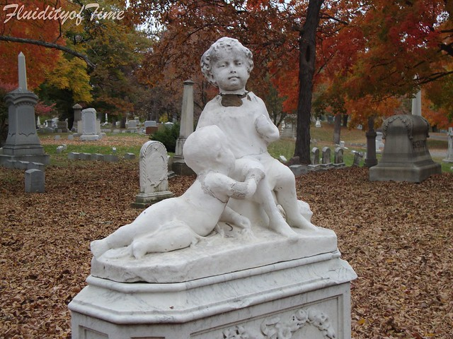 two boys-Forest Home Cemetery