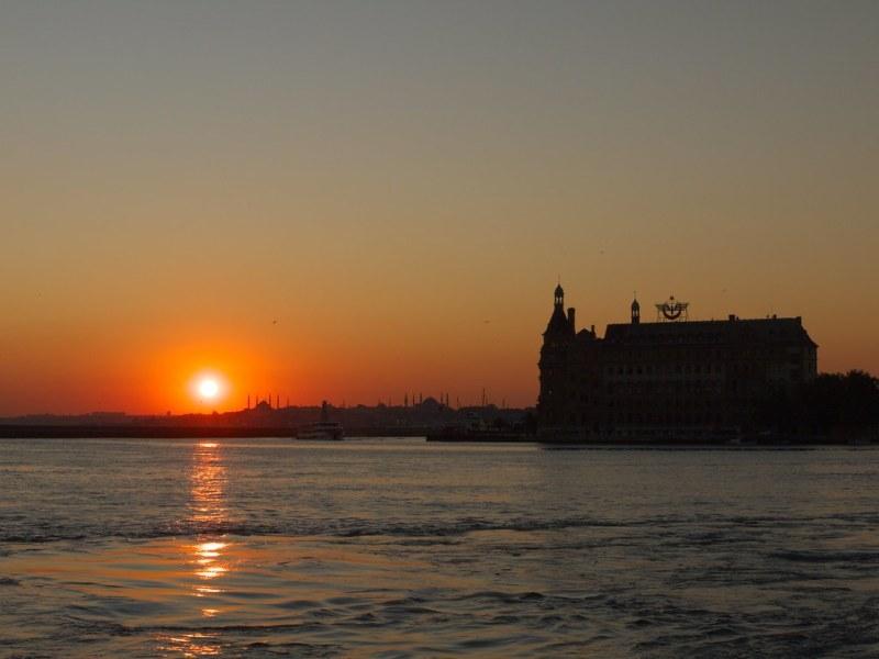 Haydarpaşa sunset view from Kadıköy