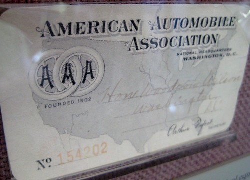 President Woodrow Wilson's AAA card