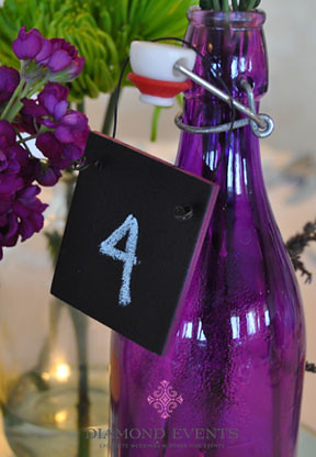 Mini chalkboard table numbers