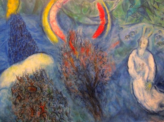 Moses and the burning bush - collection of Marc Chagall Museum