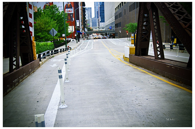 Kinzie Street's new Bike Lane