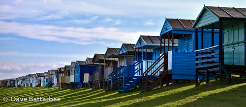 Chalets, Shadows and Clouds  - (16x7 crop)