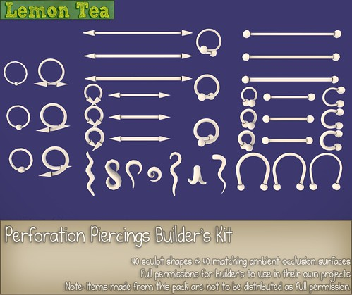 Perforation Piercings Builder's Kit by Sei Minuet / {Lemon Tea}