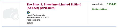 Another Dutch Listing for Showtime