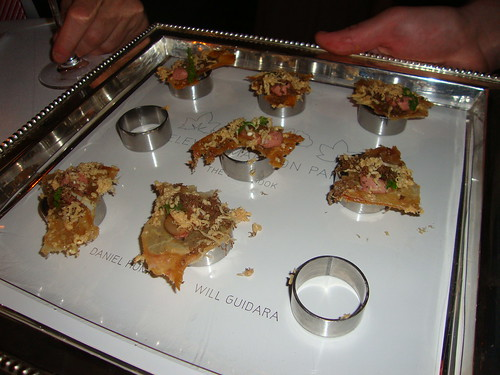 Hors d'Oeuvres:  Chicken Skins with Chicken Liver