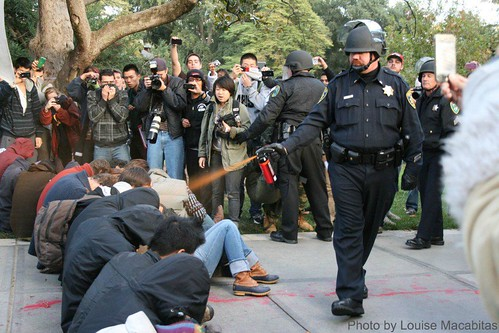 UC Davis iconic pepper spray photo