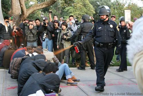 UC Davis iconic pepper spray photo