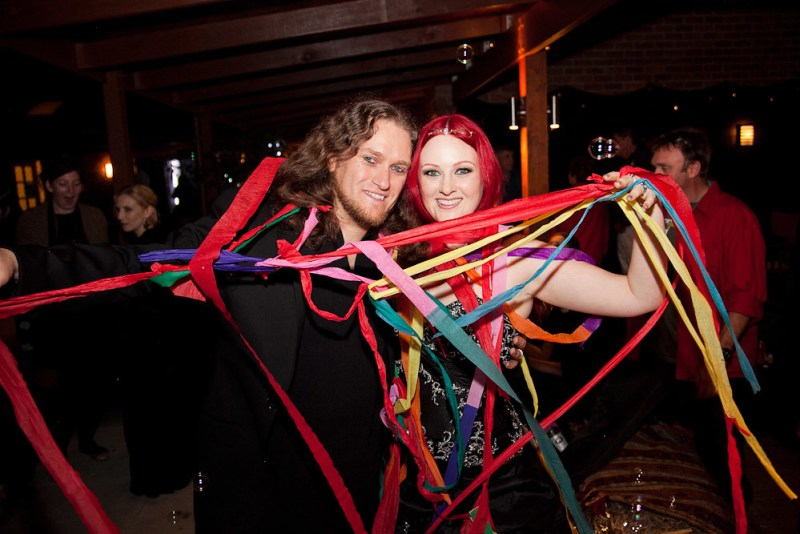 first dance with streamers