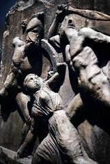 Greeks vs Amazons, Mausoleum of Halicarnassus, British Museum, photographer unknown