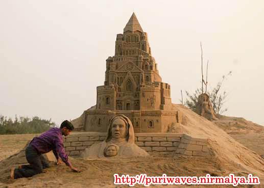 Manas kumar Sahoo Sand Art