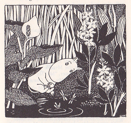 Moomintroll by the Pond