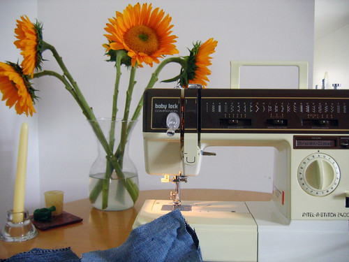 Baby Lock sewing machine with flowers