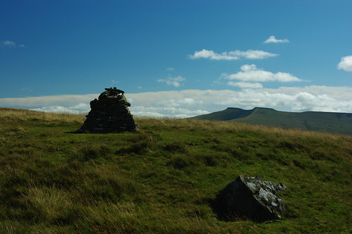 20110821-10_Cairn on Fan Frynych - Pen Y Fan + Corn Du Behind by gary.hadden
