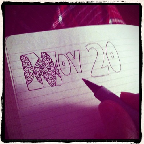 Starting something for #aedm2011 - pen & journal