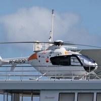 Knightspeed M-ABDQ Eurocopter EC.135-P2+ on yacht #Nassau Harbour