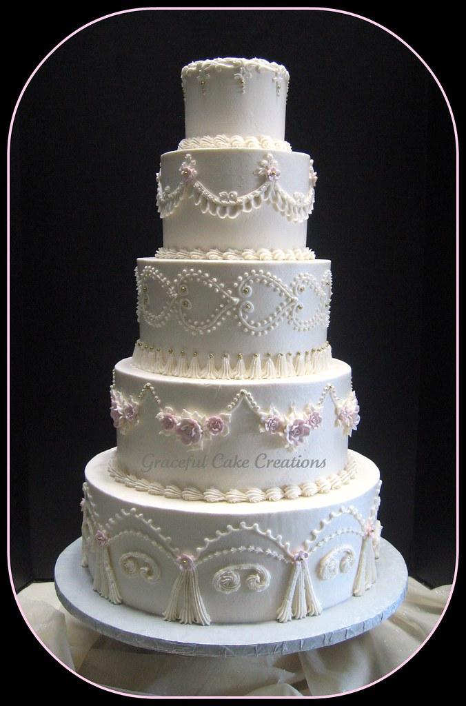 Vintage Ivory Buttercream Wedding Cake Flickr Photo