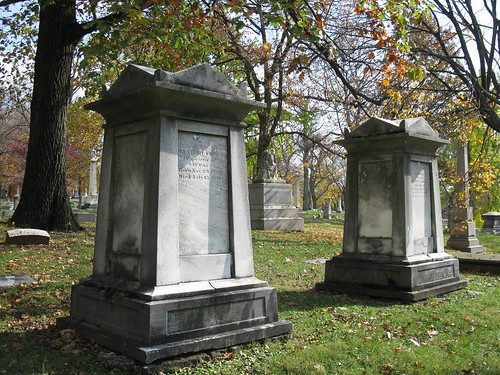 Tombstones of Daniel C. Cooper and his wife Sophia, Woodland Cemetery