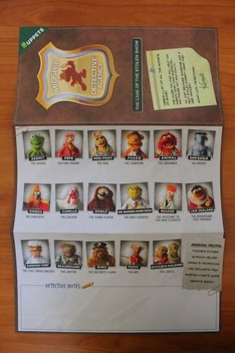 Muppets Adventure Game suspect list