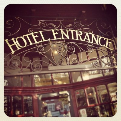 HOTEL ENTRANCE #london #wanstead #victorian #vintage #typography