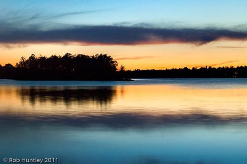 Dusk on Black Lake near Perth, Ontario.
