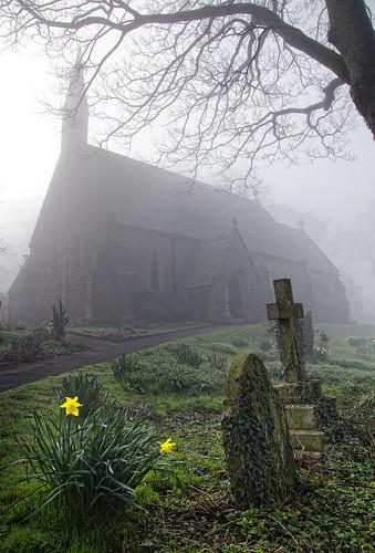 Misty Churchyard, Langcliffe