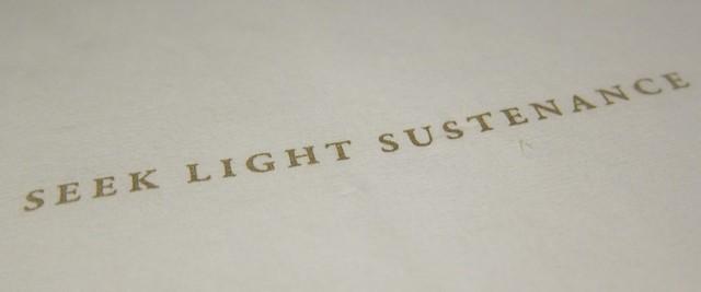 seek light sustenance at saam