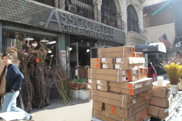View of Associated Cut Flower Company on 28th Street in Manhattan