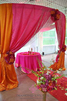 Ceremony at Mt. Airy Mansion