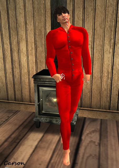 Cilian'gel 1920's Boutique - Got Combination Red Male Undergarments