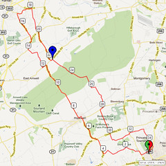 19. Bike Route Map. Princeton NJ