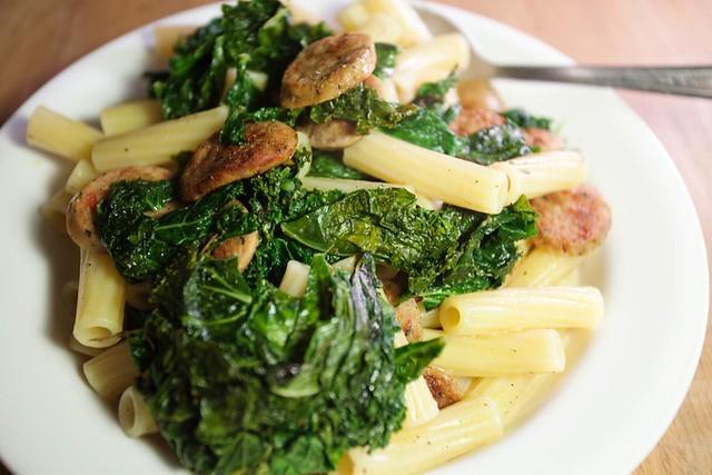 Kale & sausage w/ rigatoni