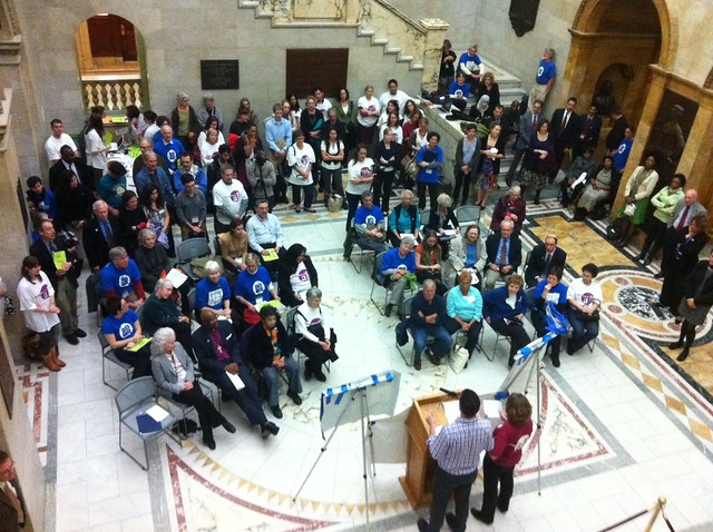 State House Rally for the Prevention Trust Fund, organized by HCFA and Greater Boston Interfaith Organization