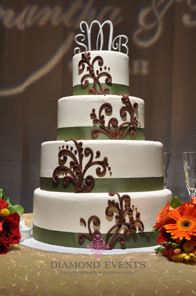 Wedding Cake at Hotel Roanoke
