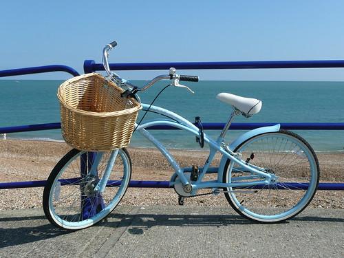 Blue Bicycle By Blue Sea